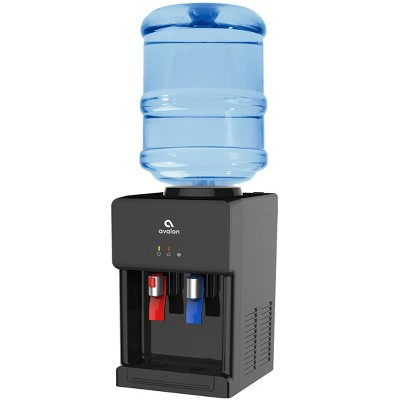 Avalon Premium Hot/Cold Top Loading Countertop Water Cooler Dispenser - Black