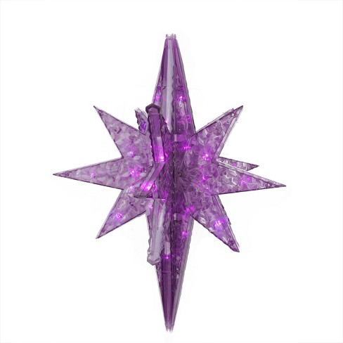 "PENN 19"" LED Lighted Purple Twinkling 3D Bethlehem Star Hanging Christmas Decoration - image 1 of 1"