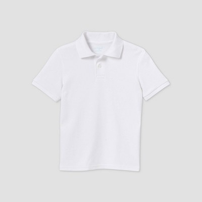 Boys' Short Sleeve Interlock Uniform Polo Shirt - Cat & Jack™ White
