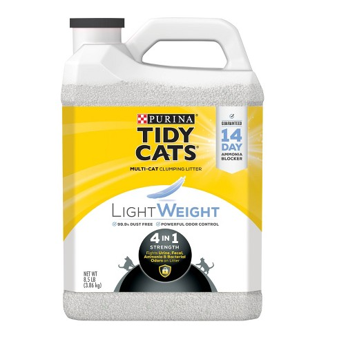 Purina Tidy Cats Lightweight 4-in-1 Strength Plastic Jug Clumping Cat Litter - image 1 of 4