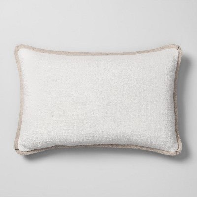 Solid Lumbar Throw Pillow White - Threshold™