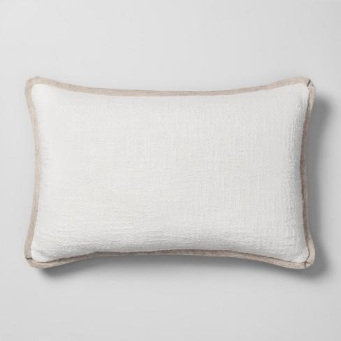 Super Solid Lumbar Throw Pillow White Threshold Uwap Interior Chair Design Uwaporg