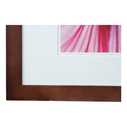 Single Image 16x20 Wide Walnut Frame with Double Mat to 11x14 ...