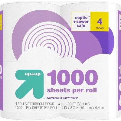 Septic + Sewer Safe Toilet Paper- 4 Rolls - up & up™