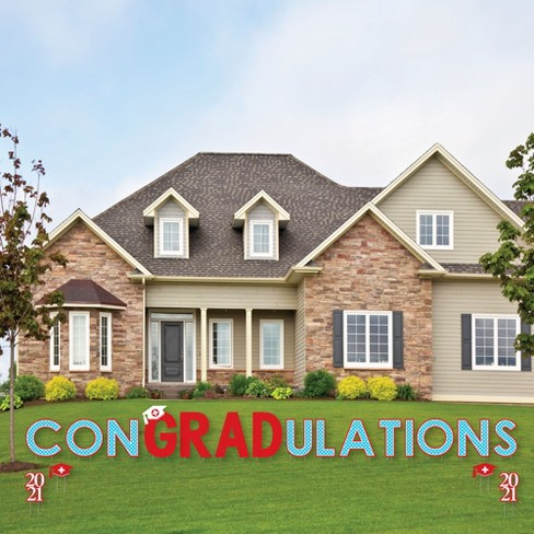 Big Dot of Happiness Nurse Graduation - Yard Sign Outdoor Lawn Decorations - 2021 Graduation Party Yard Signs - ConGRADulations - image 1 of 4