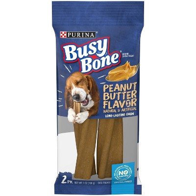 Purina Busy Bone Peanut Butter Flavor Small Medium Long Lasting Chewy Dog Treats