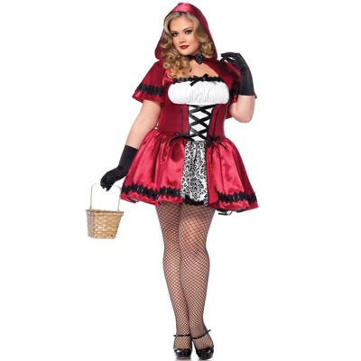 Leg Avenue Gothic Red Riding Hood Plus Size Costume