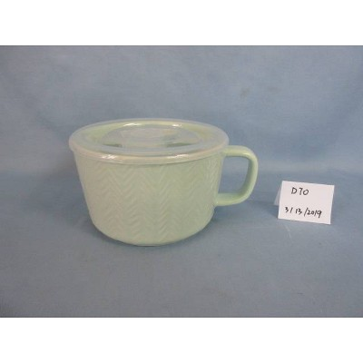 17.6oz Stoneware Cable Knit Soup Mug Teal - Threshold™