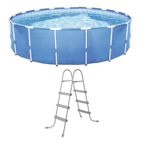"Bestway Steel Frame Pool w/ Filter Pump & 36"" Steel Pool Ladder w/ No-Slip Steps - image 1 of 4"