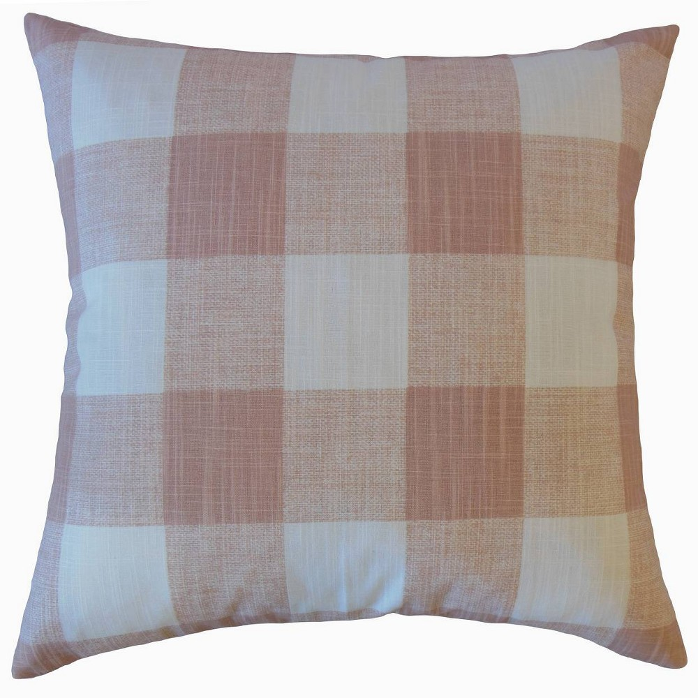 Plaid Square Throw Pillow Pink - Pillow Collection