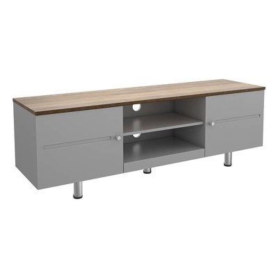 """Driftwood Top TV Stand for TVs up to 70"""" Satin Gray - AVF"""