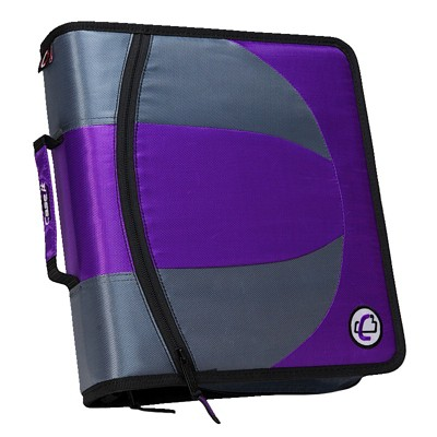 Case-it Dual Ring Zipper Binder, D-Ring, 1-1/2 Inches, Purple