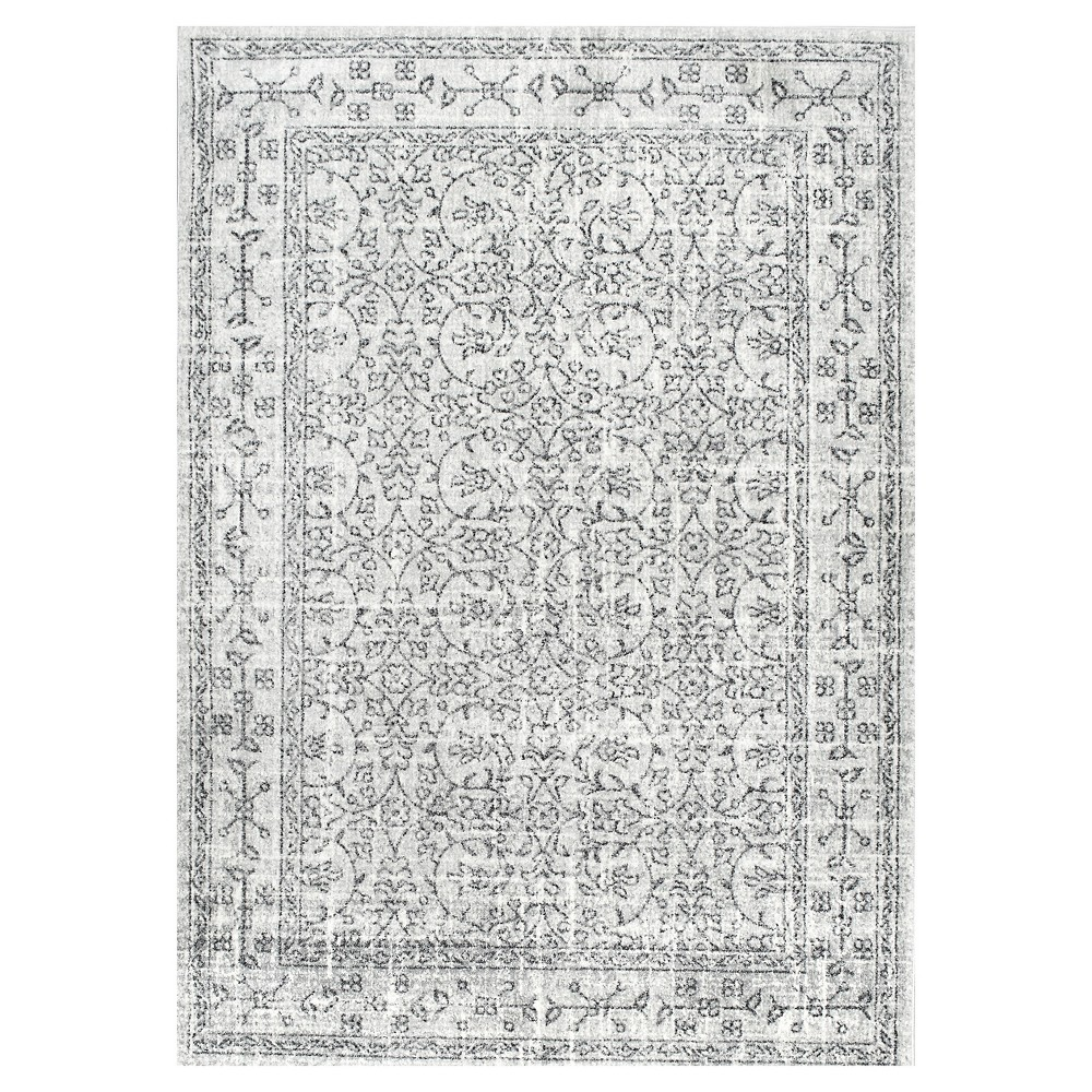 Sterling Gray Solid Loomed Area Rug - (5'x7'5) - nuLOOM, Grey