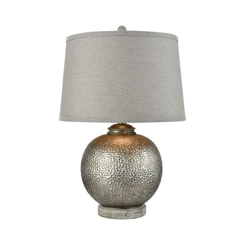 Wellington Table Lamp Silver Gray Includes Energy Efficient Light