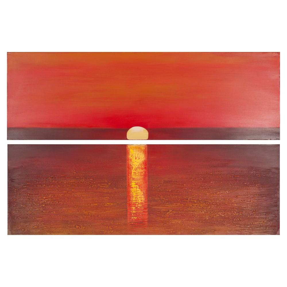 Sanibel Sunset Diptych Wall Art - Safavieh Reviews