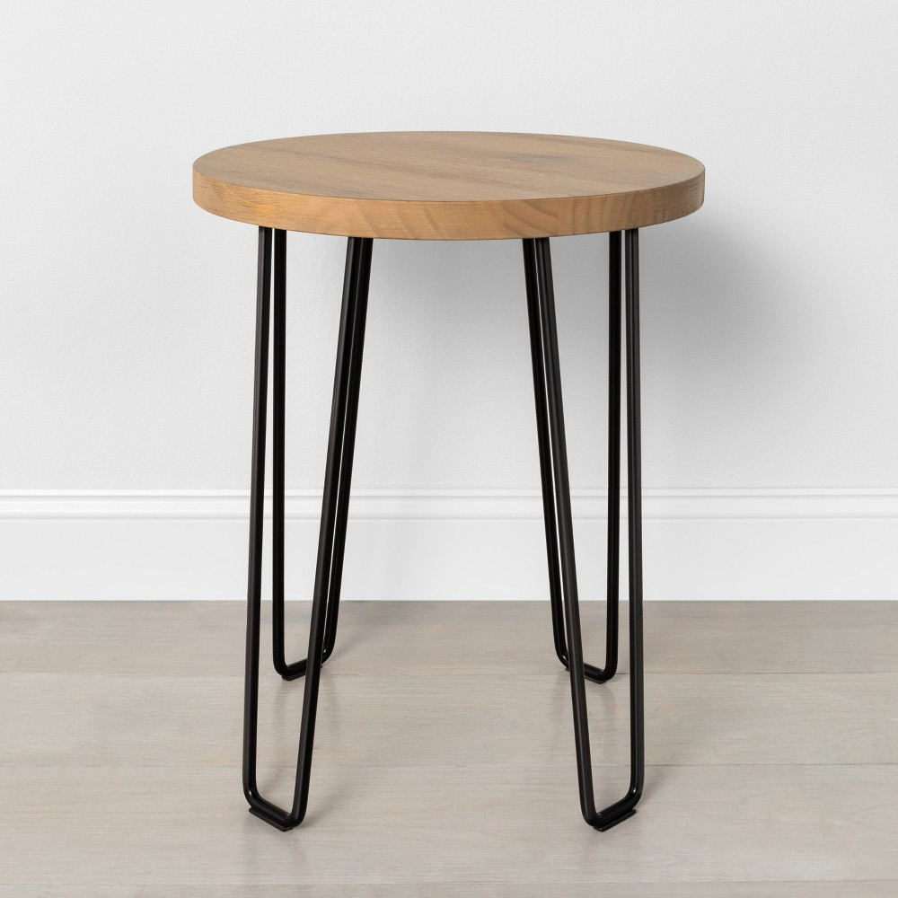 Image of Hairpin Accent Table - Hearth & Hand with Magnolia, Brown