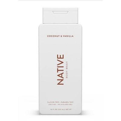 Native Coconut & Vanilla Body Wash for Women - 18oz