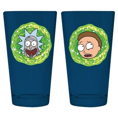 Rick and Morty 2pk Pint Set Black