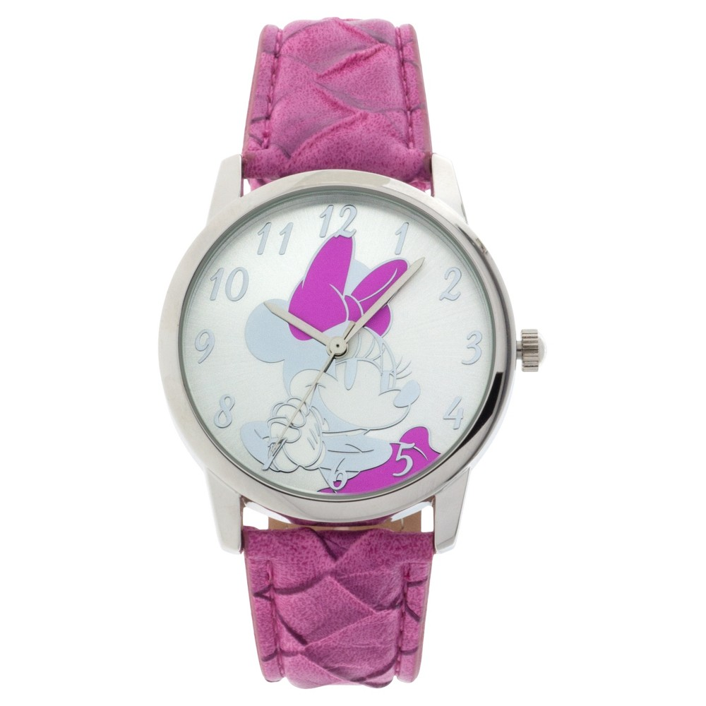Women's Disney Minnie Mouse Analog Watch - Pink