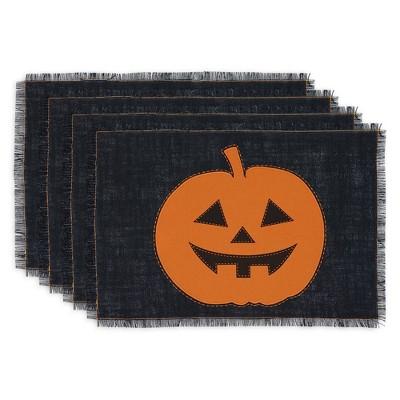 Set of 4 Cutout Jack Placemat Pumpkin - Design Imports