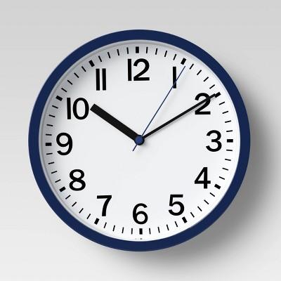 "9"" Round Wall Clock Navy - Room Essentials™"