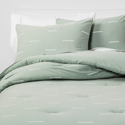 King Dash Comforter & Pillow Sham Set Green/White - Project 62™ + Nate Berkus™