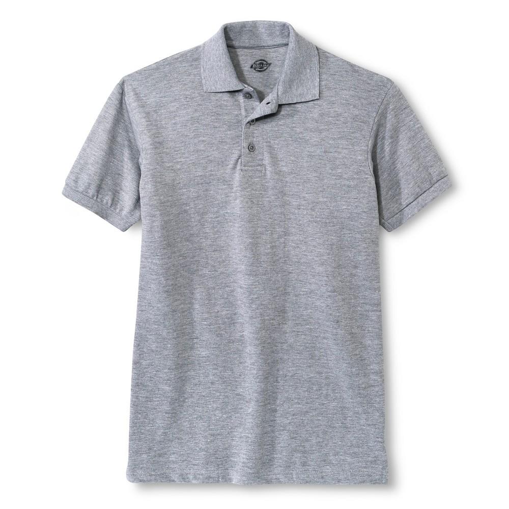 Dickies Men's Pique Uniform Polo Shirt - Heather Gray S