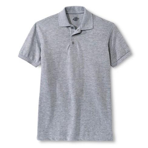 Dickies Men s Pique Uniform Polo Shirt - Heather Gray S   Target 4e18973e5