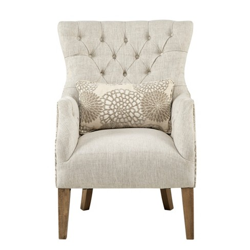 Accent Chairs.Chapman Accent Chair With Back Pillow Beige Target