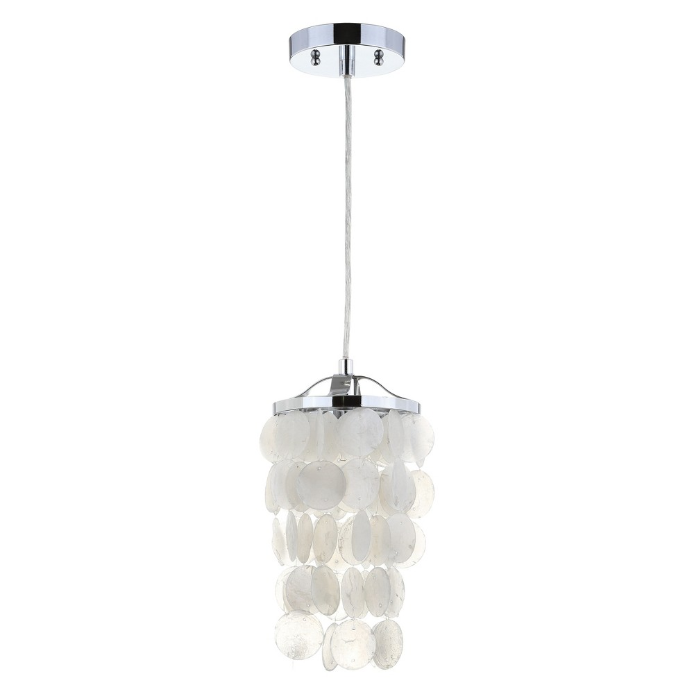 "Image of ""7"""" Cayla Seashell LED Chandelier Pendant White - JONATHAN Y"""