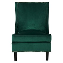 Carole New Velvet Single Sofa Accent Chair - Green - Christopher Knight Home