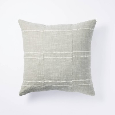 Square Woven Textured Stripe Pillow Green - Threshold™ designed with Studio McGee