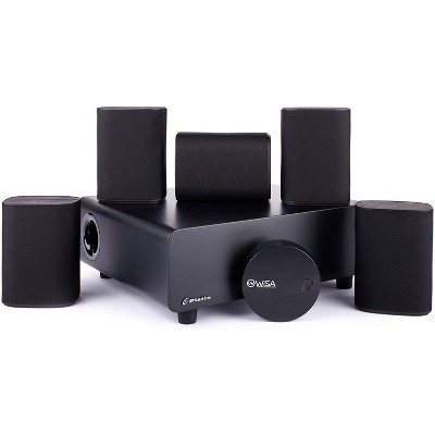 Platin Milan 5.1 with WiSA SoundSend Home Theater System Space-Saving Wireless Surround Sound Feature 5.1 Channels of Uncompressed 24-bit 48 kHz Sound WiSA Certified