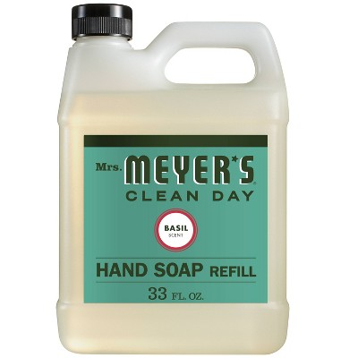 Mrs. Meyer's Basil Scented Liquid Hand Soap Refill - 33 fl oz
