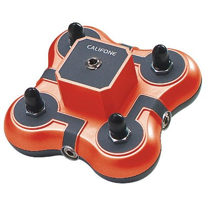 Califone Listening First 1114-RD Stereo Jackbox, 4-Position, Red