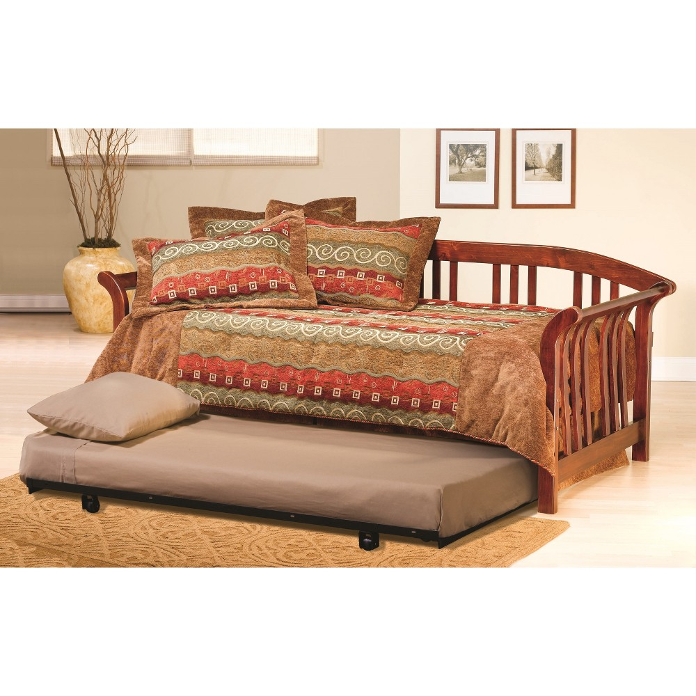 Dorchester Daybed - with Suspension Deck and Trundle - Brown Cherry - Hillsdale Furniture, Light Brown