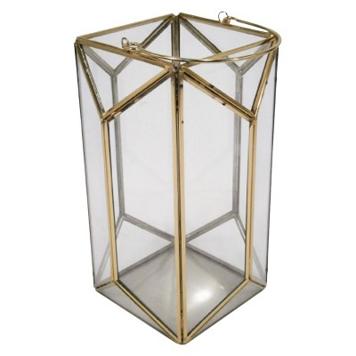 11  Outdoor Lantern Stainless Steel & Glass - Plated Gold - Threshold™