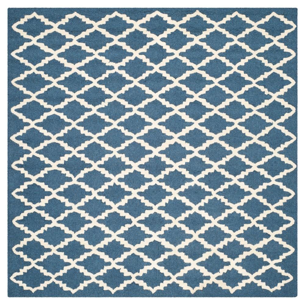 Denzel Area Rug - Navy/Ivory (Blue/Ivory) (6'x6' Square) - Safavieh