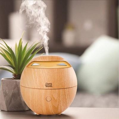 GuruNanda Light Globe Wood Essential Oil Diffuser