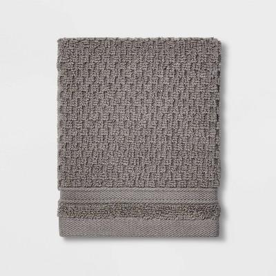 Performance Texture Washcloth Gray - Threshold™