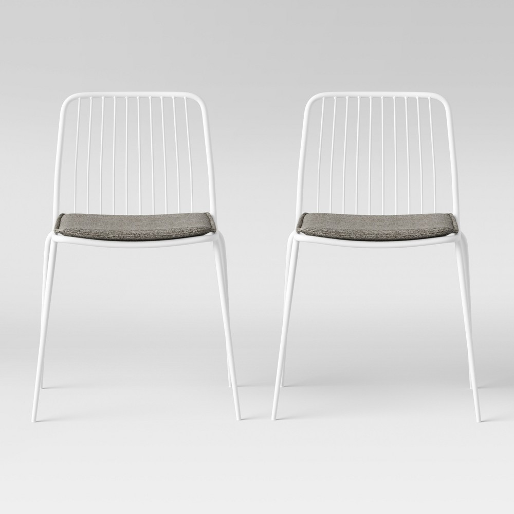 Miraculous Set Of 2 Sodra Rounded Seat Wire Dining Chair White Project 62 Short Links Chair Design For Home Short Linksinfo