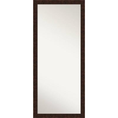 """28"""" x 64"""" William Narrow Framed Full Length Floor Leaner Mirror Bronze - Amanti Art"""
