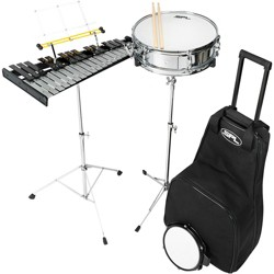 Sound Percussion Labs Snare and Bell Kit with Rolling Bag 14 x 4 in.