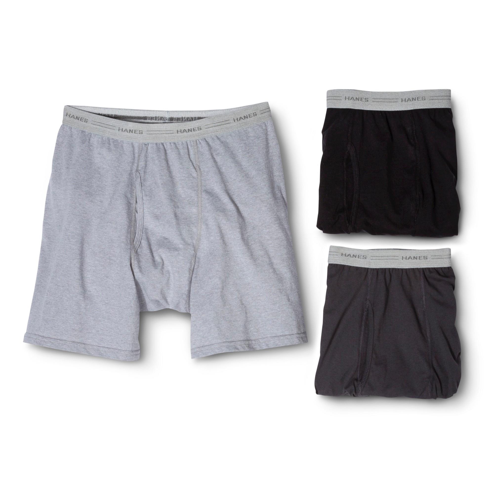 Hanes Men's 3pk Comfort blend Boxer Briefs - S, Size: Small, Gray Black