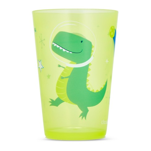 Cheeky Plastic Kids Tumbler 8.5oz Space Dinosaur - Green - image 1 of 2