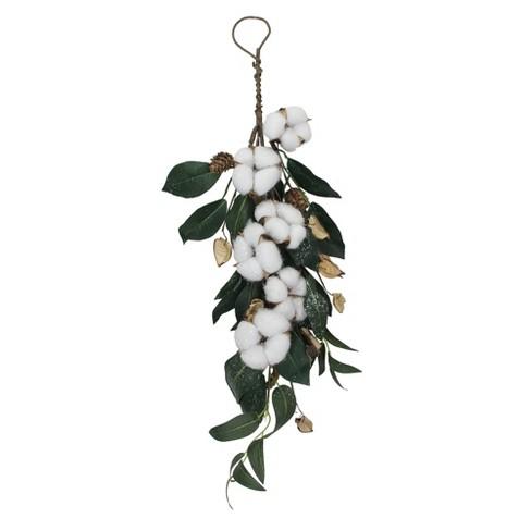 "Northlight 21"" Pinecone Foliage Artificial Christmas Teardrop Swag - Unlit - image 1 of 3"