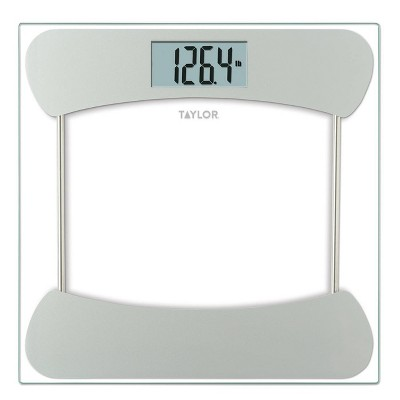 Digital Glass Scale with Stainless Steel Accents Clear - Taylor