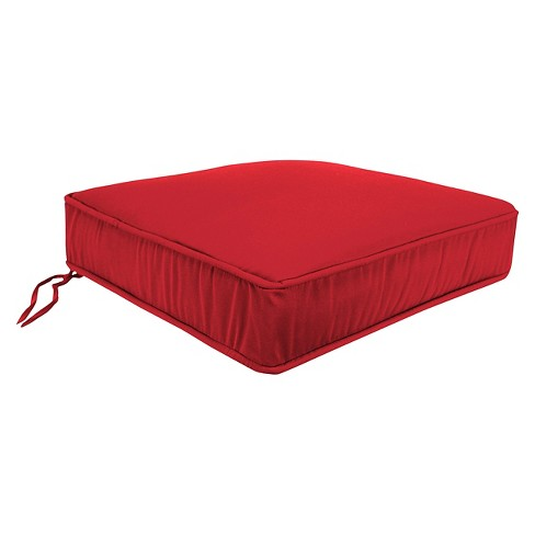 Jordan Boxed Edge Seat Cushion - Cherry - image 1 of 1