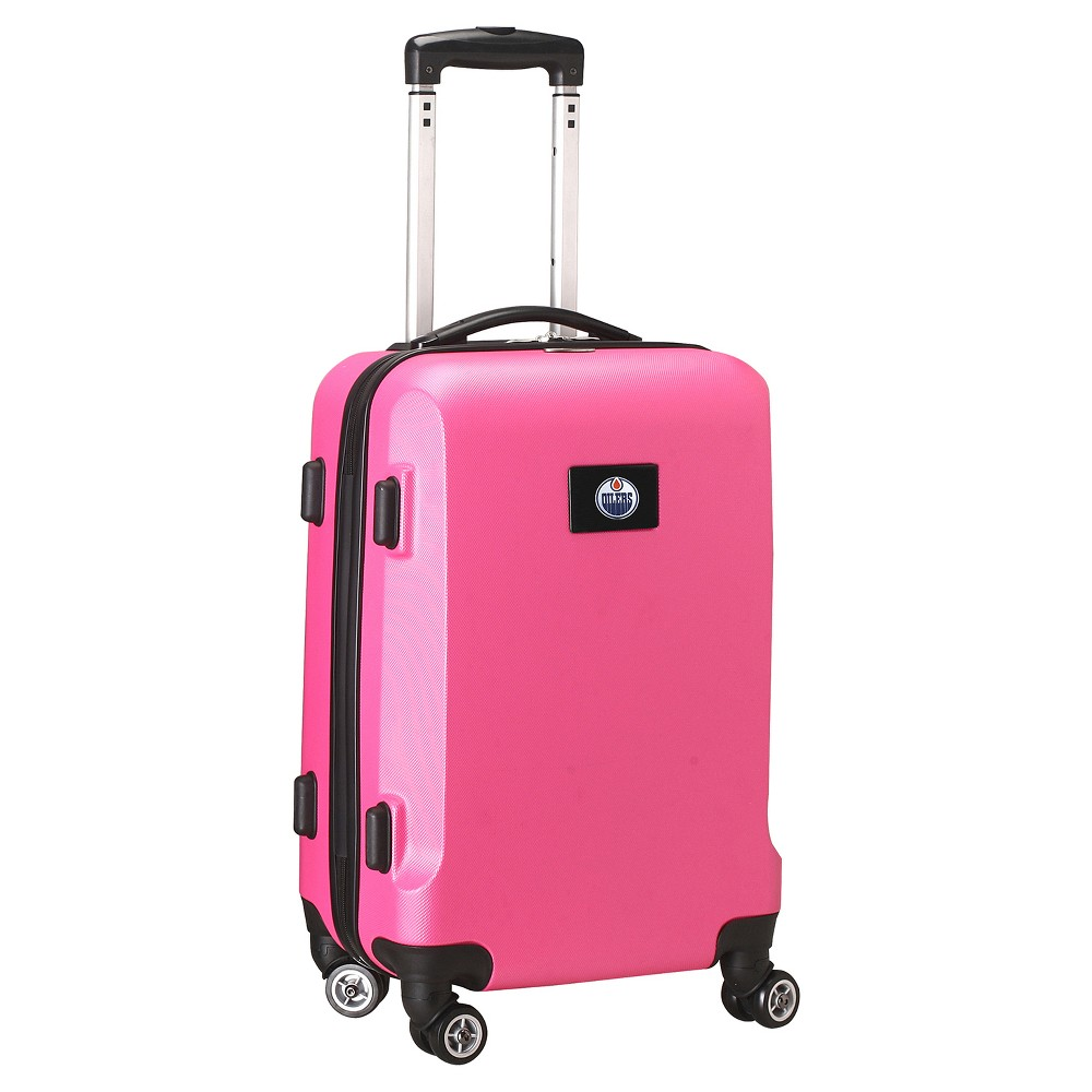 NHL Mojo Edmonton Oilers Hardcase Spinner Carry On Suitcase - Pink