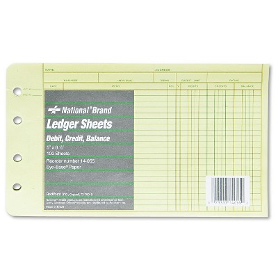 National Four-Ring Binder Refill Sheets 5 x 8 1/2 100/Pack 14055